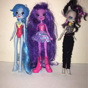 My Little Pony Girl Dolls ( Set Of 3 ) for Sale in Miami, FL