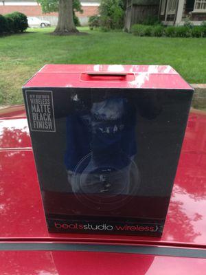 Matte Black - Beats by Dre Studio 2.0 Wireless Bluetooth headset Headphone Earphones Sealed in box NEW for Sale in Richmond, VA