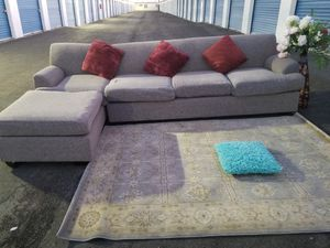 Beautiful Grey Sectional Sofa two pieces for Sale in Las Vegas, NV
