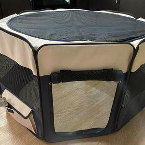 Zampa Pet Folding Soft-sided Dog & Cat Playpen, Brown for Sale in Walnut Creek, CA