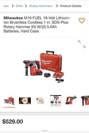 "Milwaukee M18 fuel 1"" SDS plus rotary hammer for Sale in Hayward, CA"