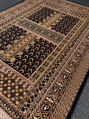 New bokhara rug size 8x11 nice black and beige carpet Persian style rugs for Sale in Burke, VA