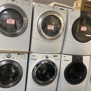 Whirlpool Front Load Washer And Dryer Electric Set Perfectly Working for Sale in Laurel, MD