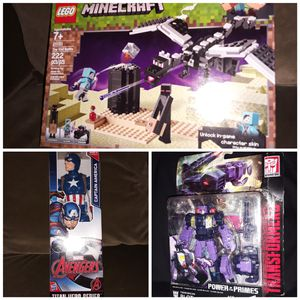 Toys lot legos captin America transformers action figures for Sale in Philadelphia, PA