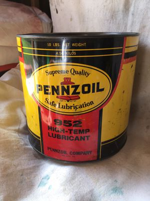 Pennzoil. 952. High temp lube. 10 lb. can. Cash only and pickup only!! for Sale in Hacienda Heights, CA