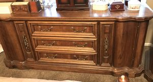 Reduced! 4 piece bedroom set dressers with large mirror. Solid wood for Sale in Hackettstown, NJ