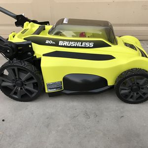 RYOBI 20 in. 40-Volt Brushless Lithium-Ion Cordless Battery Walk Behind Push Lawn Mower for Sale in Phoenix, AZ