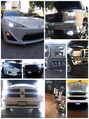 CSP Car LED lights kit MODEL 9006 with 1 year WARRANTY. Easy plug and play Car CSP LED headlights set for Sale in West Covina, CA