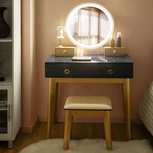 Vanity Makeup Table Touch Screen 3 Lighting Modes Dressing Table Set for Sale in Ontario, CA