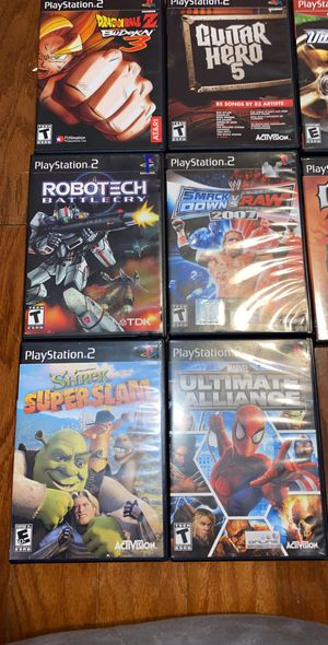 PS2 VIDEO GAMES for Sale in Charlotte, NC
