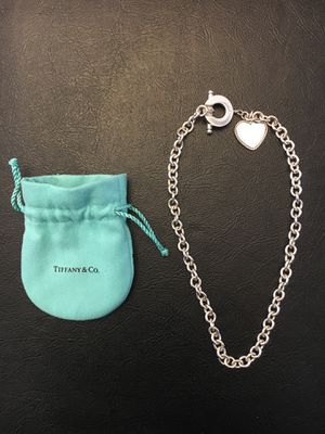 Tiffany & Co. Sterling Silver Heart Toggle Necklace for Sale in Stratford, CT