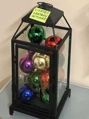 Lantern with Ornaments that Light Up! MUST SEE! On Timer too! for Sale in Mokena, IL
