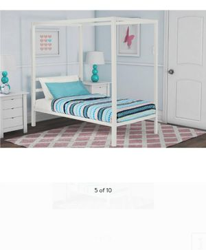New twin bed frame mattress not included for Sale in Charlotte, NC