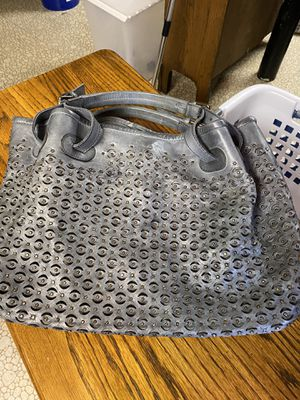 Gray leather bag for Sale in Glen Burnie, MD