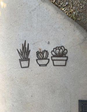 Succulent metal wall art for Sale in Gilbert, AZ
