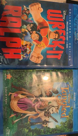 Wreck-It Ralph and Tangled Movies BLU-RAY ONLY for Sale in Riverside, CA