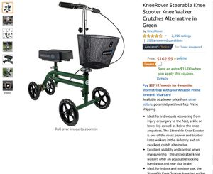 Perfect condition knee scooter walker for injuries for Sale in East Wenatchee, WA