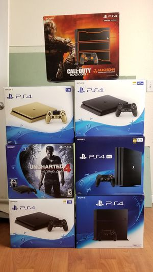 BOXES FOR PS4 GAME CONSOLE, READ DESCRIPTION FOR PRICES for Sale in Garden Grove, CA