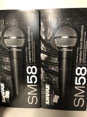 Sure sm58 mic for Sale in Modesto, CA