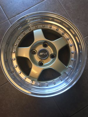 MSR wheel 15x8 (2 rims) 15x7 (2 rims) $400 4 rims for Sale in San Fernando, CA