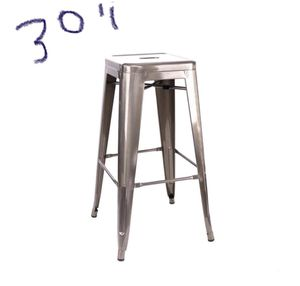 Bar Stools metal silver 30$ each 4 available for Sale in Henderson, NV