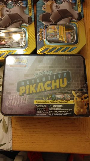 Detective pikachu tin! for Sale in Gulfport, FL