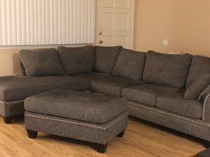 Sectional Couch with Ottoman for Sale in Clovis, CA