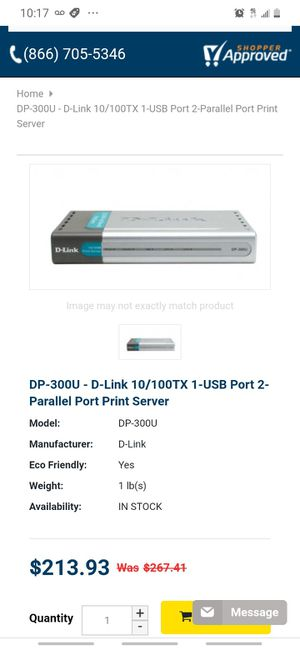 D link print server for Sale in Covington, GA
