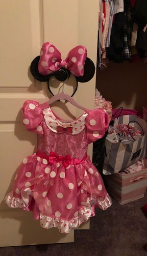 Minnie mouse Halloween costume with ears for Sale in Las Vegas, NV