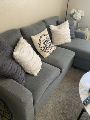 Small Chaise Lounge Couch and White Chair for Sale in Laguna Beach, CA