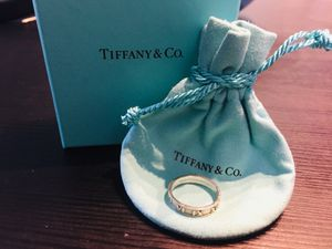 Tiffany & Co Silver Atlas Narrow Roman Numeral Ring - Size 6.5 for Sale in San Diego, CA