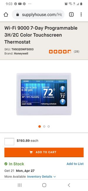 Honeywell smart thermostat for Sale in San Lorenzo, CA