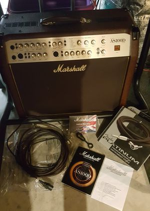 Marshall AS100D Amp & Accessories Never Used for Sale in Woodbine, MD