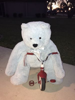 Blue stuffed bear for Sale in Boca Raton, FL
