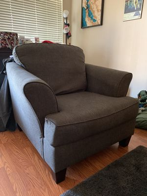 Charcoal Grey couch with matching arm chair for Sale in Belmont, CA