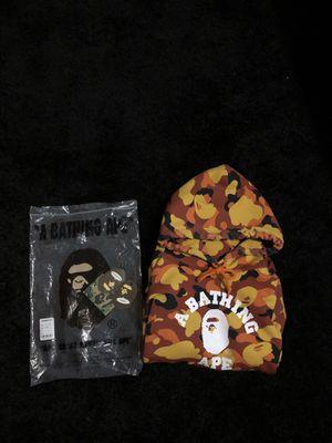 orange camo bape hoodie SOLD‼️ for Sale in Everett, WA