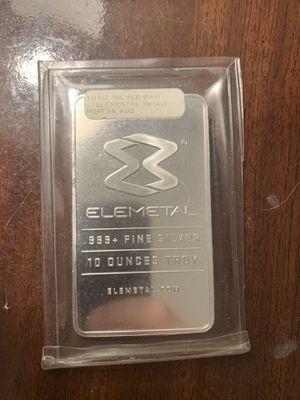 10 oz Elemetal .999 Silver Bar for Sale in Washington, DC