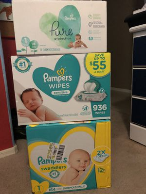 Pamper and wipes for Sale in Avondale, AZ