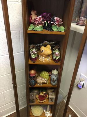 Antique cabinet with amazing candle collection for Sale in Pasadena, CA