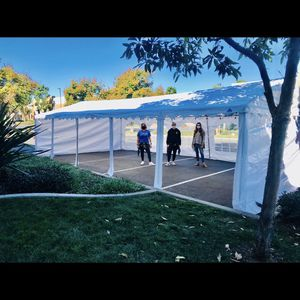 WHITE POP UP TARP TENT for Sale in Carlsbad, CA