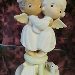 """Precious Moments -#524921 """"ANGELS WE HAVE HEARD ON HIGH"""" Two Angels On Stool-NIB for Sale in Chicago, IL"""