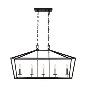 Home Decorators Collection Weyburn 5-Light Black and Polished Chrome Caged Island Chandelier NEW for Sale in Plantation, FL