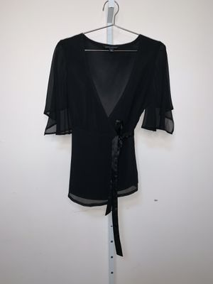 Banana Republic | Black Wrap Tie Blouse | Women's Small for Sale in Silver Spring, MD