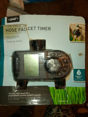 O r bit Hose Faucet timer for water hose, turn your hose Faucet into a programmable sprinkler system for Sale in Hiram, GA