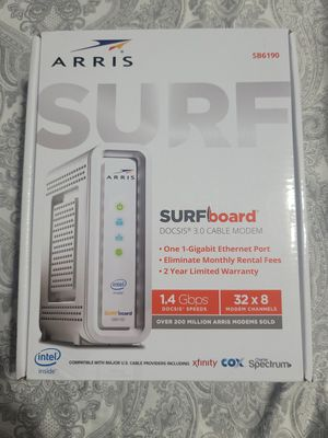 Like new ARRIS SURFboard SB6190 Cable modem for Sale in New York, NY