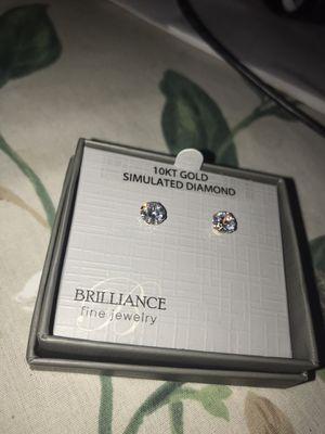 10k Gold Stimulated Diamond Earrings for Sale in Patton, PA