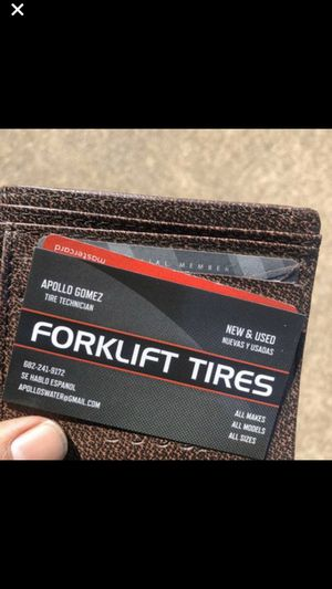 Forklift tires and installation for Sale in Grand Prairie, TX