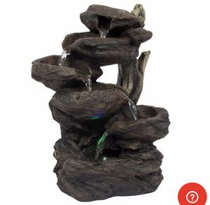 Table top fountain with led lights for Sale in Marion, OH