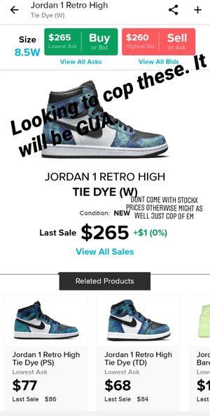 Jordan 1 Retro High Tie Dye for Sale in Oak Park, IL