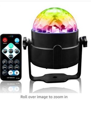 Disco Ball LED Light Sound Activated Party Light Strobe Party 3W Light with Remote Control for Stage/ DJ / Bar /Club /Karaoke for Sale in Rancho Cucamonga, CA